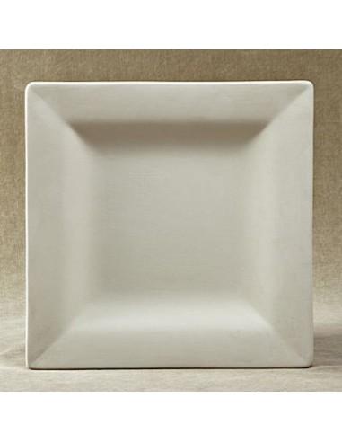 Piatto piccolo quadrato c/falda