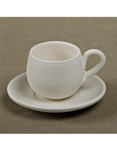 Tazzina caffè bombata c/piattino
