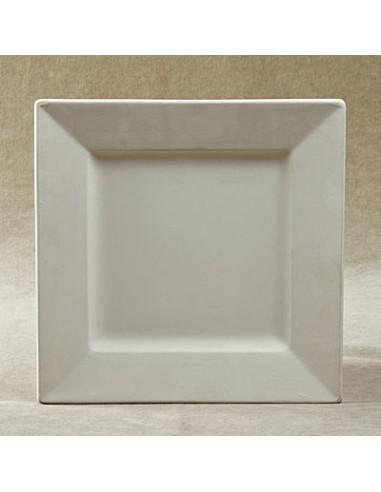 Piatto medio quadrato c/falda